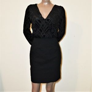 Nicole Miller Black Cocktail Pencil Dress Size 8